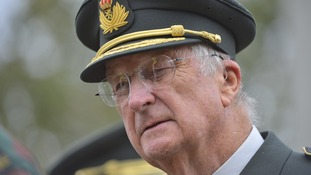 King Albert II of Belgium pictured during a visit to the military camp in 2012.