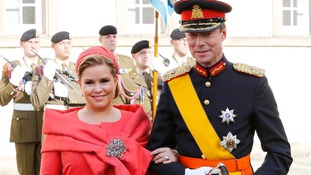 Grand Duchess Maria Teresa and Grand Duke Henri of Luxembourg.