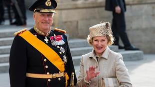 Harald V of Norway and Queen Sonja of Norway.