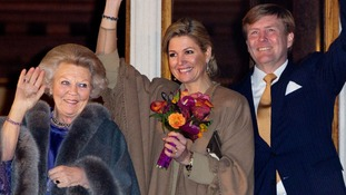 Queen Beatrix, Prince Willem-Alexander and Princess Maxima of The Netherlands
