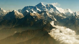 Mount Everest (centre), the world highest peak.