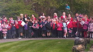 Children tun out for Kate