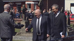 Mayor Joe Anderson arrives ahead of the service