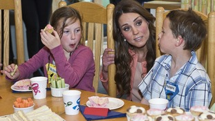 The Duchess of Cambridge touring Naomi House