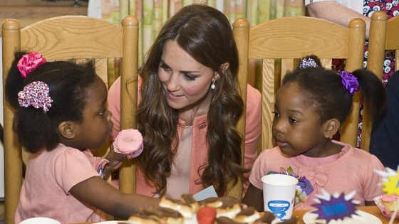 The Duchess of Cambridge meeting children and staff as she visits Naomi House Children's Hospice