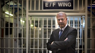 Justice Secretary Chris Grayling during a visit to Pentonville Prison in north London
