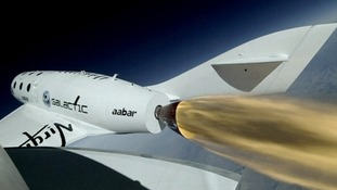 Virgin Galactic's rocket SpaceShipTwo