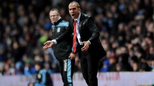 Sunderland manager Paolo Di Canio (right) on the touchline with Aston Villa manager Paul Lambert