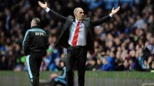 Sunderland manager Paolo Di Canio celebrates after Danny Rose scores his side's first goal of the game