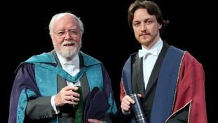 Lord Richard Attenborough (left) with James McAvoy