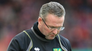 Norwich City's manger Paul Lambert