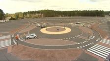 Dutch-style roundabout
