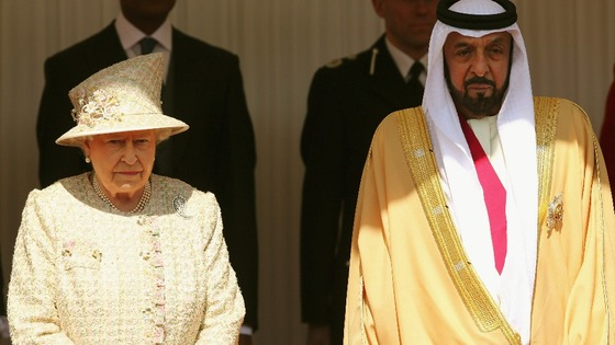 Queen Elizabeth with the President of the United Arab Emirates