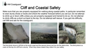 Cliff collapse warning