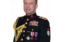 Anders Breivik in 'Knights Templar' uniform