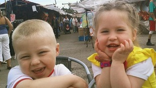 Bailey Allen, four, and Skye Allen, two died in the blaze.