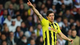 Borussia Dortmund forward Robert Lewandowski led the line in Madrid