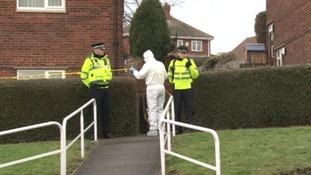 Forensics officers at Shabir Choudary's home