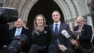 Sally and Danny Nightingale leave the High Court in London after winning his appeal in March 2013