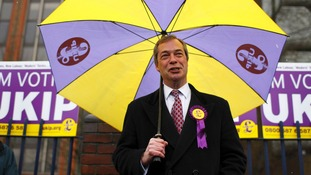 UKIP leader Nigel Farage on the campaign trail