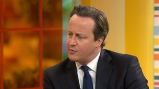 David Cameron on the Daybreak sofa
