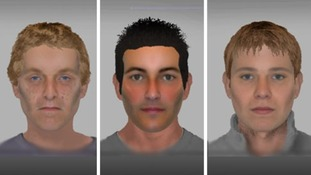 E-fit images of suspects following burglaries in Yaxley and Burgate in April