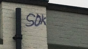 Police want help to find graffiti tag SOT writer