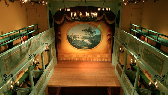 Auditorium of the Georgian Theatre Royal
