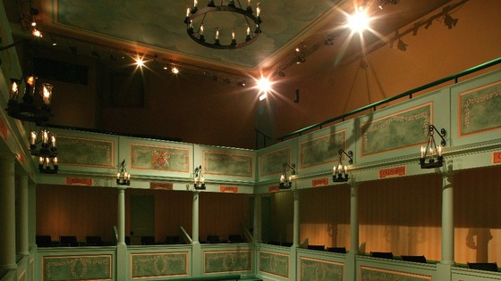 View of stage at The Georgian Theatre Royal