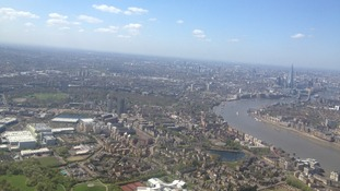 The view from London's helicopter sightseeing tours