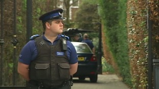 Police at the home of Bill Roache