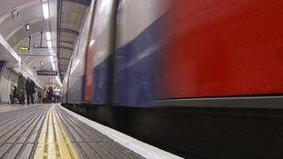 A tube pulls in to platform