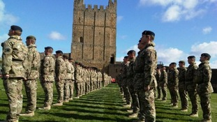 Remembrance service for soldiers