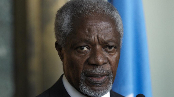 Joint special envoy on Syria Kofi Annan
