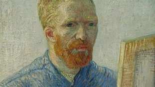 A self-portrait of Vincent Van Gogh.