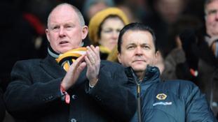 Wolverhampton Wanderers' chairman Steve Morgan and board member Jez Moxey
