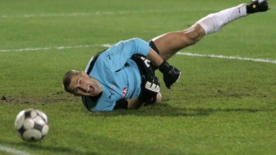 Goalkeeper Ivan Turina during a UEFA Cup match in 2008.
