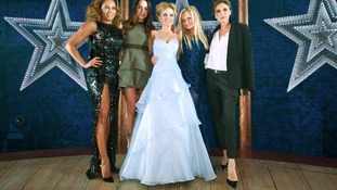 The Spice Girls backstage at the press night of Viva Forever!