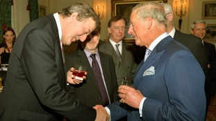 The Prince of Wales meeting Stephen Fry