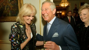 The Prince of Wales meets Joanna Lumley at a Samaritans reception