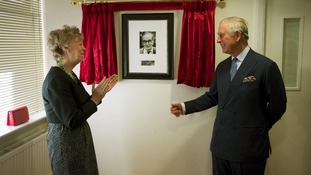 Prince Charles unveils a portrait of Samaritans founder Dr Chad Varah