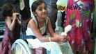 Thusha Kamaleswaran, now six, was left paralysed after being shot last year