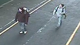 CCTV image of two men after Sheffield city centre fire