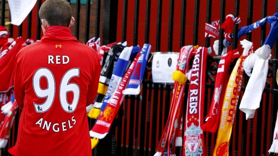 Tributes at the gates of Anfield
