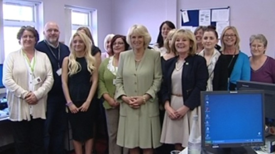 Her Royal Highness the Duchess of Cornwall visited Middlesbrough to meet charity workers