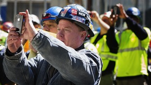 Ground Zero workers take photos