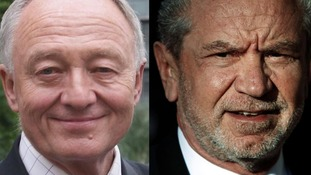 Ken Livingstone and Alan Sugar.