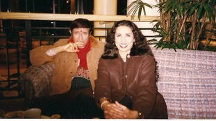 Indian film legend Dev Anand pictured with Nina Nannar