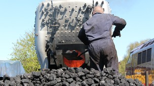 Here coal is being used to test the boiler of locomotive 43106 at Bridgnorth.