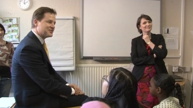 Nick Clegg and Kirsty Williams